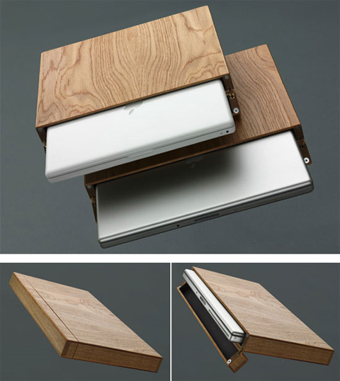 wooden laptop cases by rainer spehl