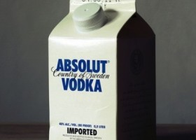 Absolut Vodka Milk carton