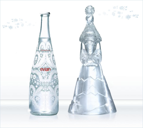 Twins bottles from evian christian lacroix 2008 haute couture and pr t por - Evian christian lacroix ...